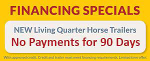 $0 Down Horse Trailering Financing Specials