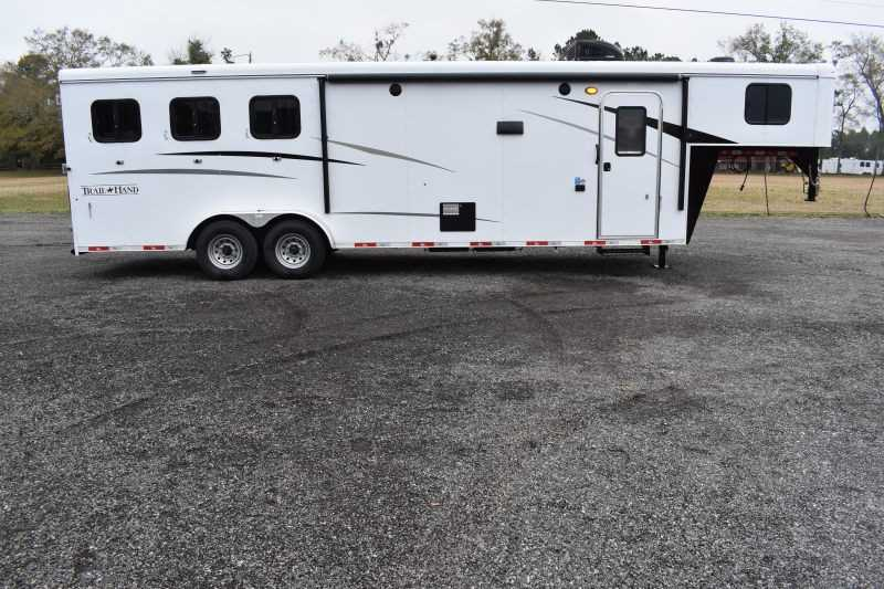 #08923 - New 2020 Bison Trail Hand 7311 3 Horse Trailer  with 11' Short Wall