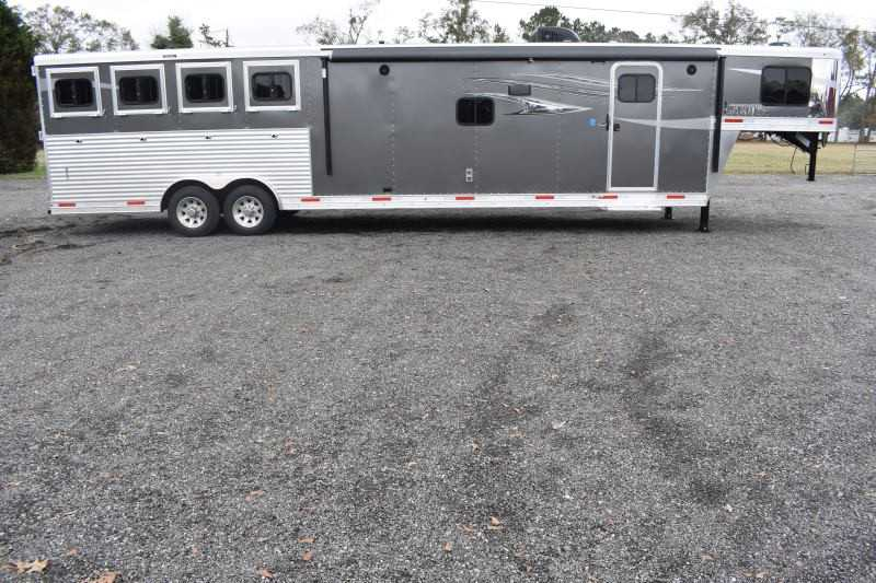 #01542 - New 2019 Lakota 8415SRBGLQ Charger 4 Horse Trailer  with 15' Short Wall