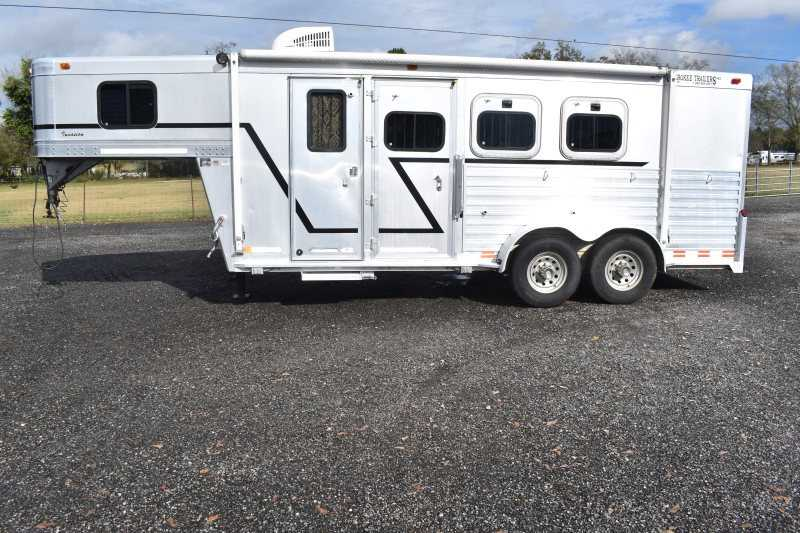 #02987 - Used 2000 Cherokee 3HGN LQ 3 Horse Trailer  with 5' Short Wall