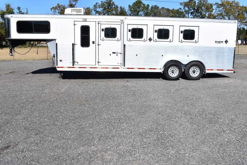 #73236 - Used 2010 Shadow 7406GN 4 Horse Trailer with 6' Short Wall