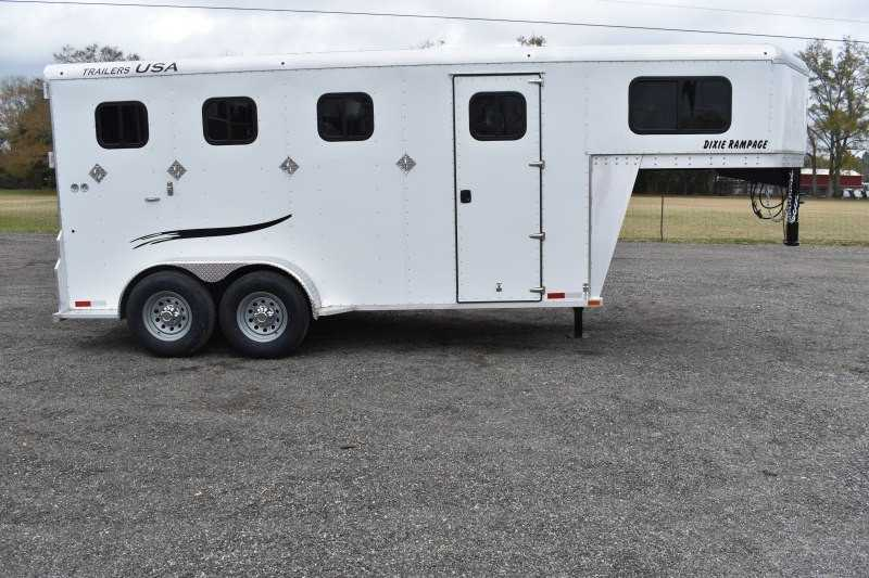 #29309 - New 2019 Trailers USA Dixie Rampage 234THGN 4 Horse Trailer