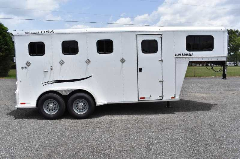 #29313 - New 2020 Trailers USA Dixie Rampage 234THGN 4 Horse Trailer