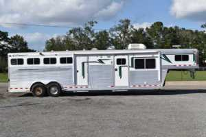 Used 2003 C&C 8412LQ 4 Horse Trailer  with 12' Short Wall