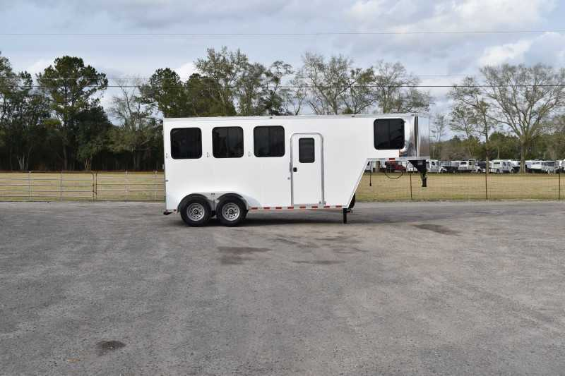 #00457 - New 2019 Harmar Dixie Rampage 234THGN 4 Horse Trailer  with 1' Short Wall