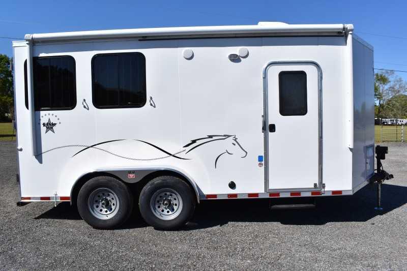 #00471 - New 2019 Harmar Dixie Star 502DSBP 2 Horse Trailer with 5' Short Wall