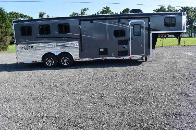 #09051 - New 2020 Bison Ranger 8309SO 3 Horse Trailer  with 9' Short Wall