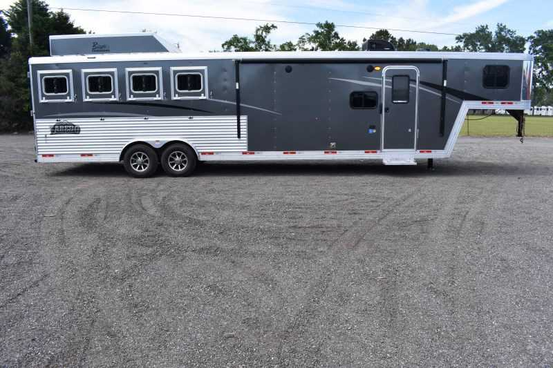 #09054 - New 2020 Bison Laredo 8411SO 4 Horse Trailer  with 11' Short Wall