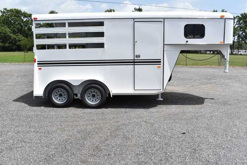 #77064 - New 2020 Bee 2HSLGN 2 Horse Trailer  with 2' Short Wall