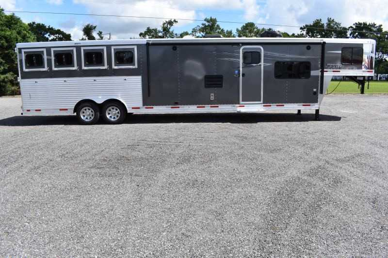 #00325 - New 2020 Lakota 8415RKGLQ Charger 4 Horse Trailer  with 15' Short Wall