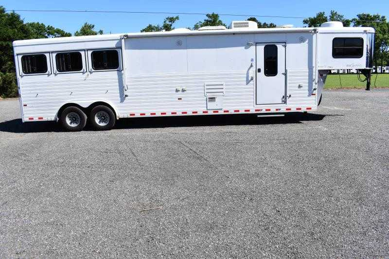 #A5071 - Used 2008 Sundowner 3 H 8014 3 Horse Trailer  with 14' Short Wall