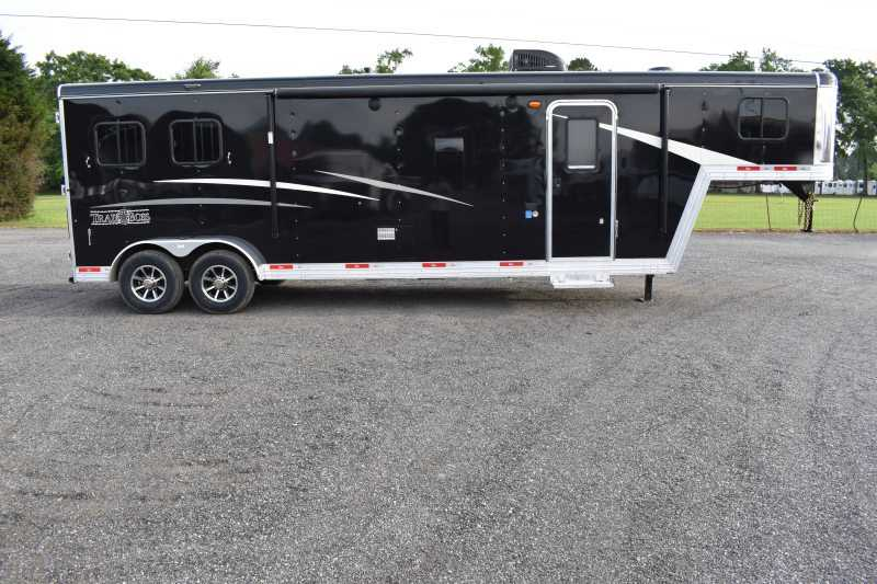 #09041 - New 2020 Bison Trail Boss 7211SO 2 Horse Trailer  with 11' Short Wall