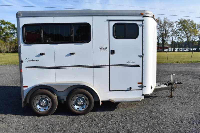 #A5482 - Used 2012 Sundowner 2HSLBP 2 Horse Trailer  with 2' Short Wall