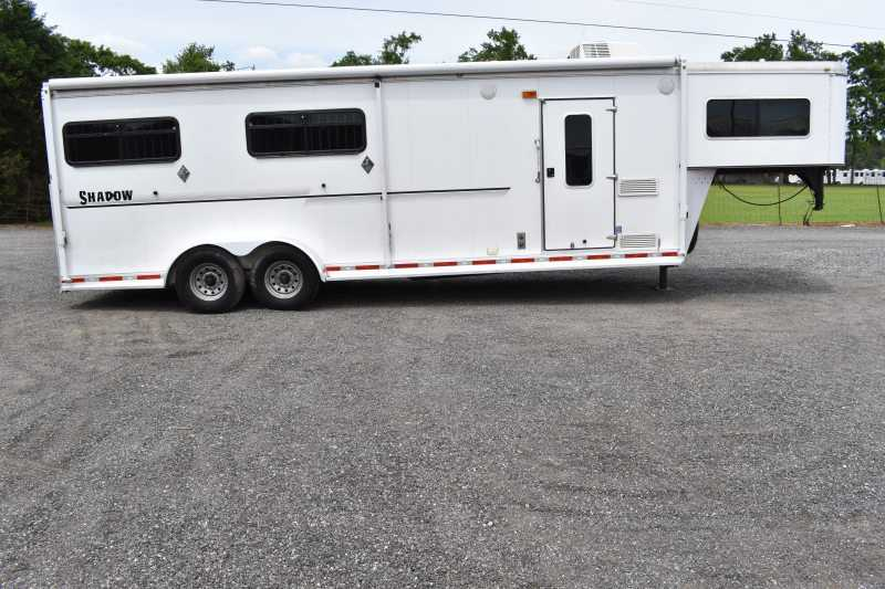 #73532 - Used 2008 Shadow 7407LQ 4 Horse Trailer with 7' Short Wall