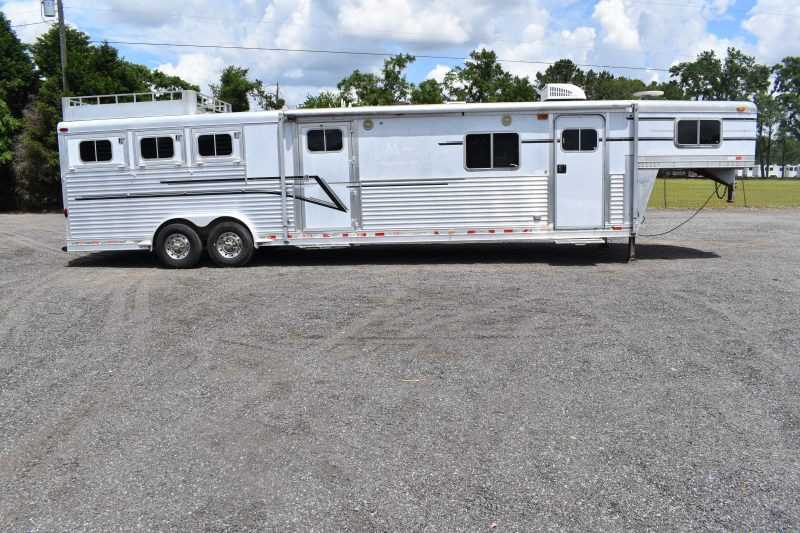 #75330 - Used 1999 Elite 8315GNLQ 3 Horse Trailer  with 17' Short Wall