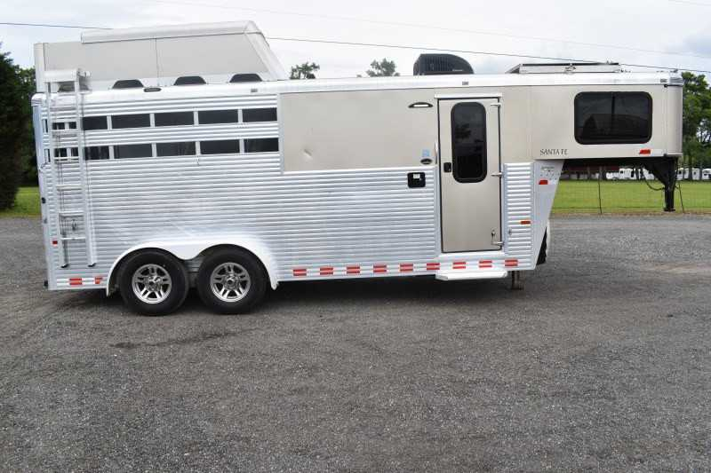 #A6442 - Used 2015 Sundowner 7306GNLQ 3 Horse Trailer with 6' Short Wall