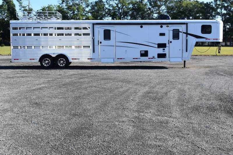 #09162 - New 2020 Bison Trail Boss 7009STLTSO Stock Trailer  with 9' Short Wall