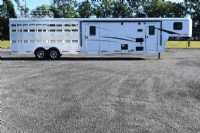 New 2020 Bison Trail Boss 7009STLTSO Stock Trailer  with 9' Short Wall