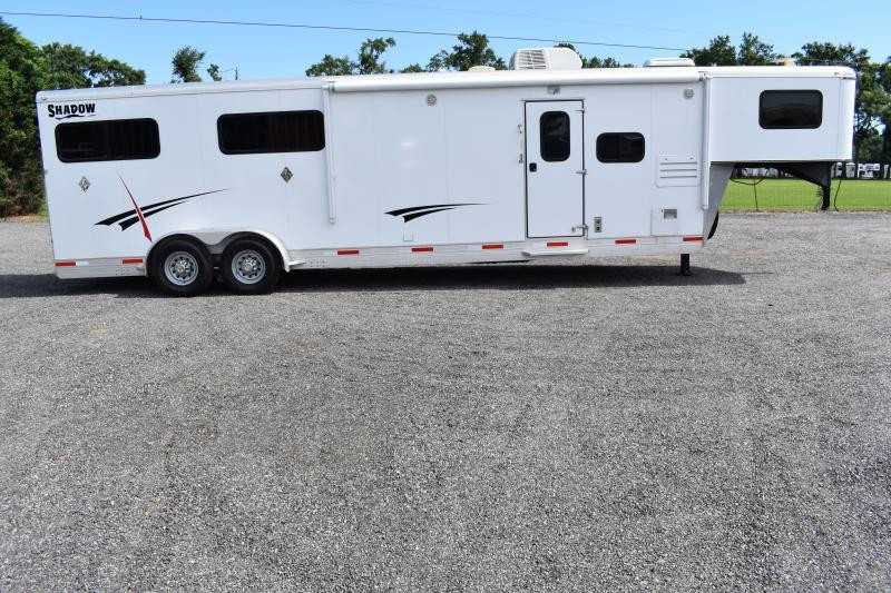 #73909 - Used 2014 Shadow 7411GLQ 4 Horse Trailer  with 11' Short Wall