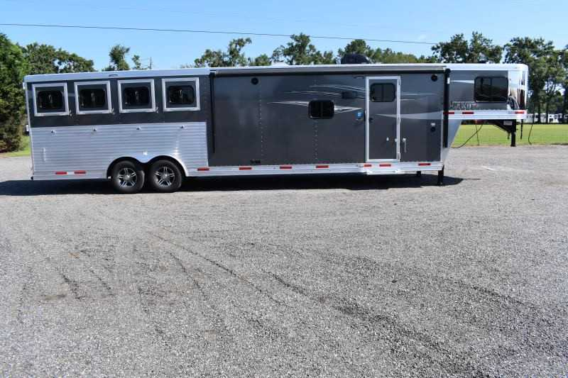 New 2020 Lakota Charger 8413RKGLQ 4 Horse Trailer with 13' Short Wall