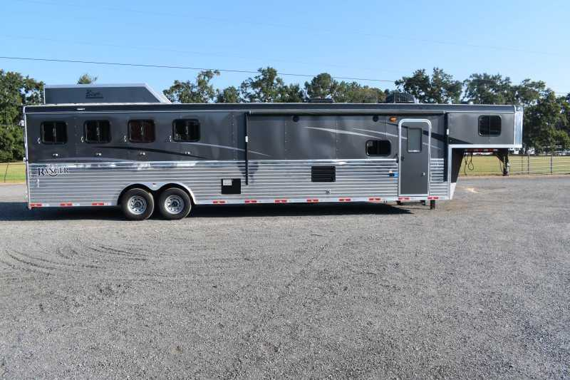 #09192 - New 2020 Bison Ranger 8414LBK 4 Horse Trailer  with 14' Short Wall
