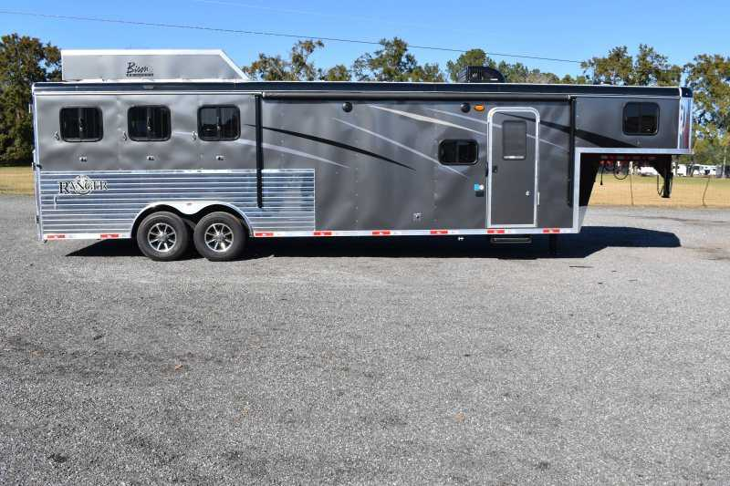 #09262 - New 2020 Bison Ranger 8311SO 3 Horse Trailer  with 11' Short Wall