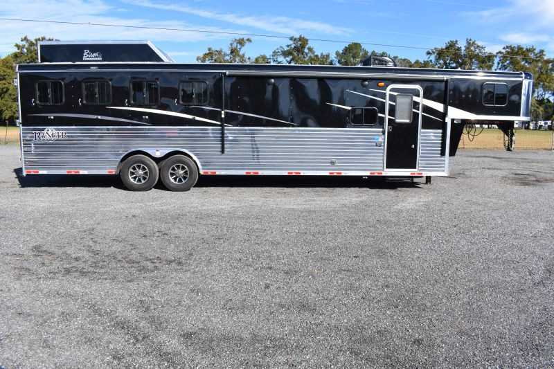 #09263 - New 2020 Bison Ranger 8411SO 4 Horse Trailer  with 11' Short Wall