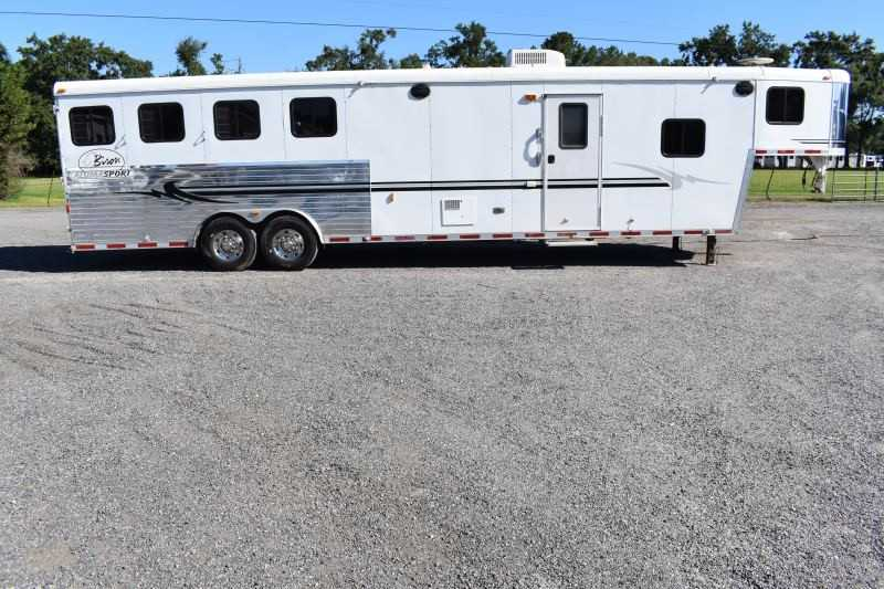 #07865 - Used 2005 Bison Alumasport 4 Horse Trailer  with 12' Short Wall