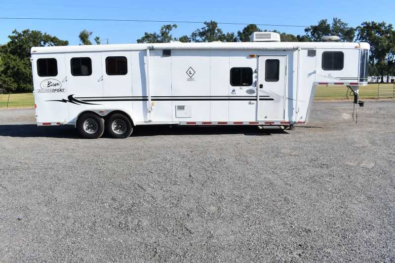 #07818 - Used 2005 Bison  3 Horse Trailer  with 12' Short Wall