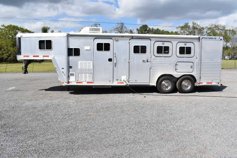 #12368 - Used 1996 Featherlite 7308 3 Horse Trailer  with 9' Short Wall
