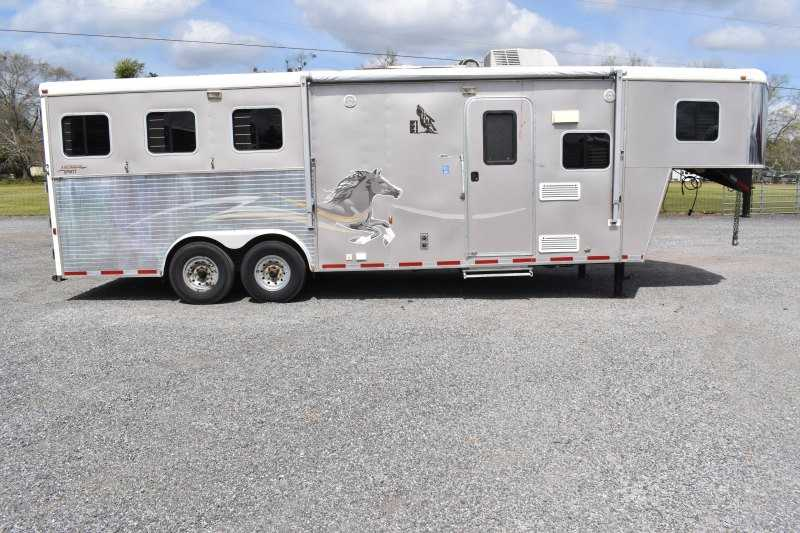 Used 2007 American Spirit 8308LQ 3 Horse Trailer with 8' Short Wall
