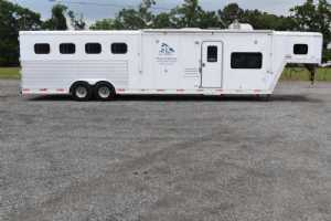 Used 2007 Exiss 8414 LQ 4 Horse Trailer  with 14' Short Wall