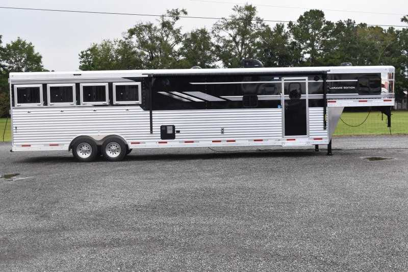 #00421 - New 2021 SMC SL8415SRKCE 4 Horse Trailer  with 15' Short Wall