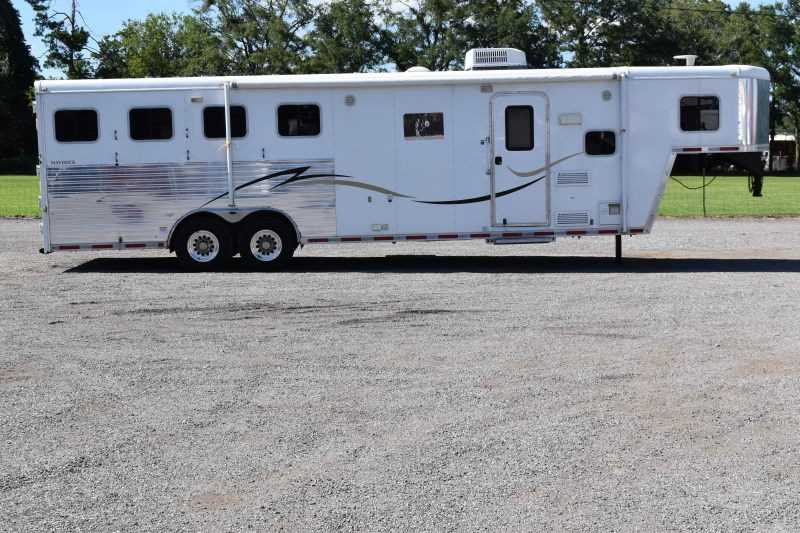 #00063 - Used 2011 Hoosier Maverick 8410LQ 4 Horse Trailer  with 9' Short Wall