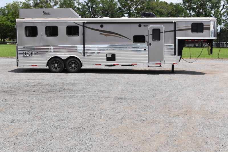 #04829 - Used 2015 Bison 8310GLQ 3 Horse Trailer  with 10' Short Wall