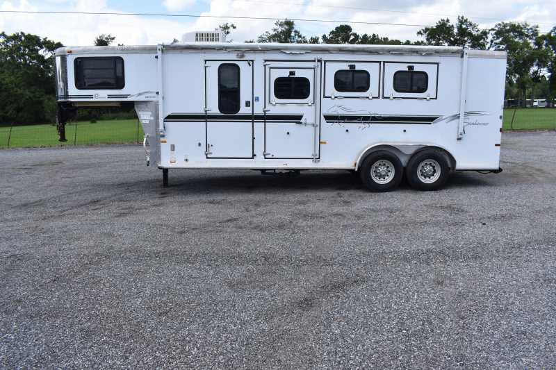 #A1796 - Used 2004 Sundowner 7307LQ 3 Horse Trailer  with 7' Short Wall