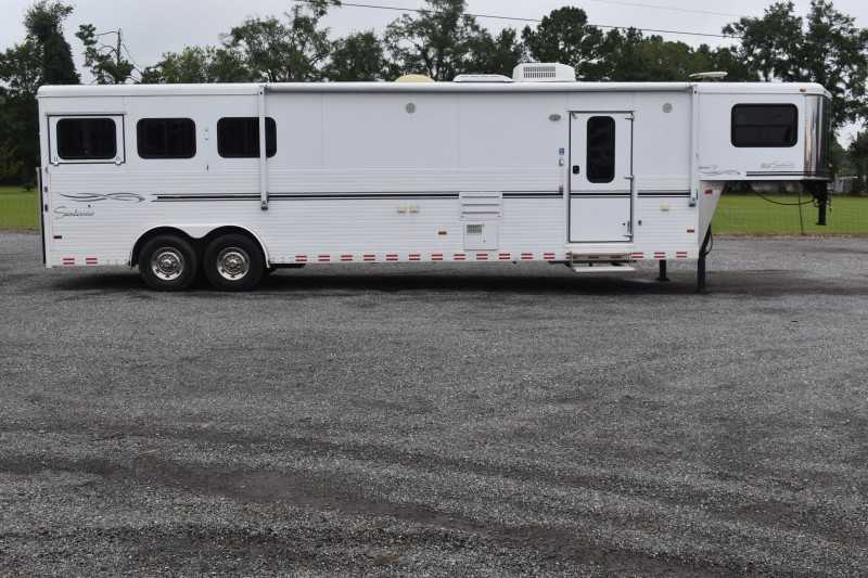 #A4753 - Used 2007 Sundowner 8314LQ 3 Horse Trailer  with 14' Short Wall