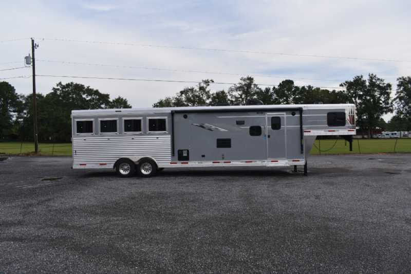 #00560 - New 2021 SMC SL8413SSR 4 Horse Trailer  with 13' Short Wall