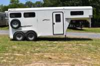 Used 2010 Delta 7204GN 2 Horse Trailer  with 3' Short Wall