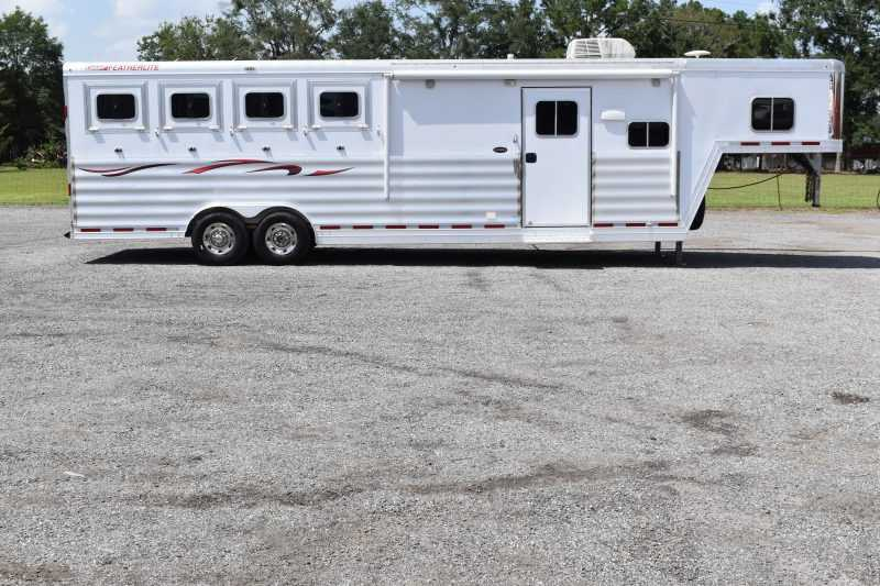#37308 - Used 2015 Featherlite 8412LQ 4 Horse Trailer  with 12' Short Wall
