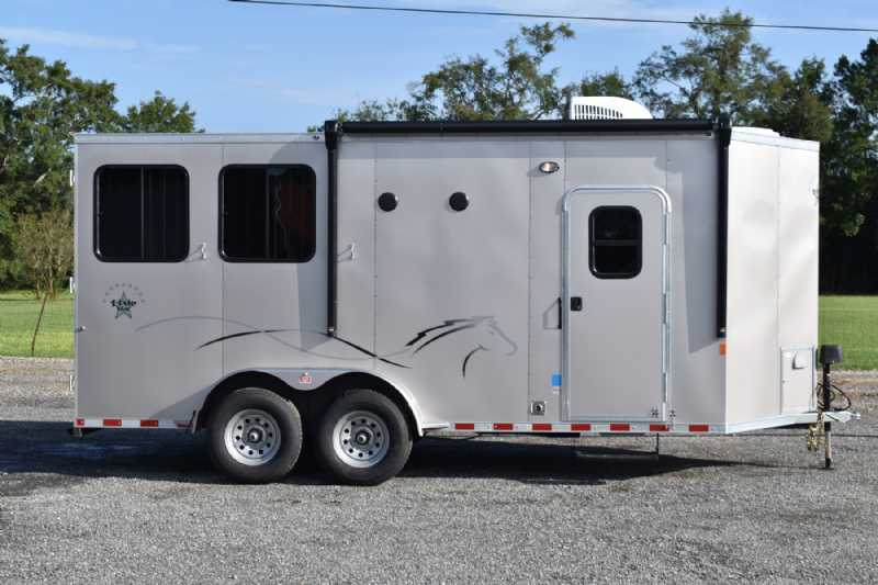 #00594 - New 2021 Harmar Dixie Star 602DSBP 2 Horse Trailer  with 6' Short Wall