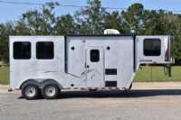New 2021 Harmar Dixie Outlaw 7206LQ 2 Horse Trailer  with 6' Short Wall