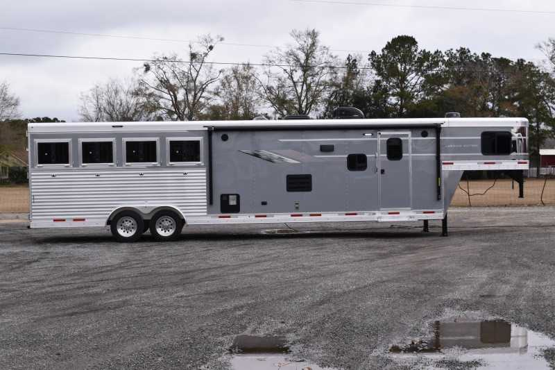 #00905 - New 2021 SMC SL8413SSR 4 Horse Trailer  with 13' Short Wall