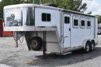 Used 2000 Exiss SS300 3 Horse Trailer  with 4' Short Wall