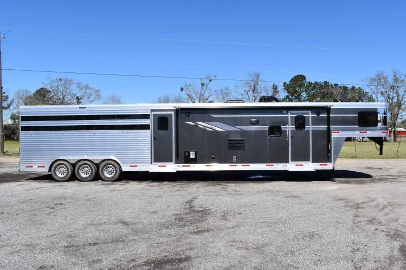 New 2021 SMC SLE81614SSRT Stock Trailer with 14' Short Wall