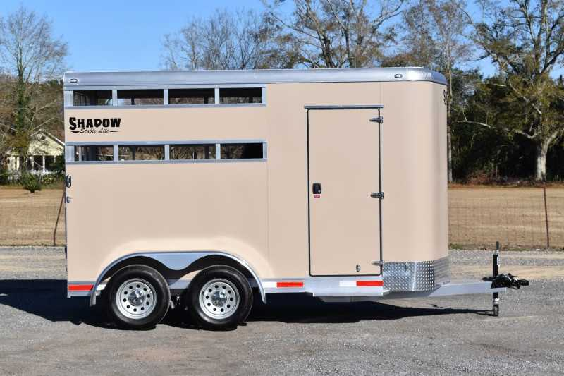 #73146 - New 2021 Shadow 2HBPSL 2 Horse Trailer  with 2' Short Wall