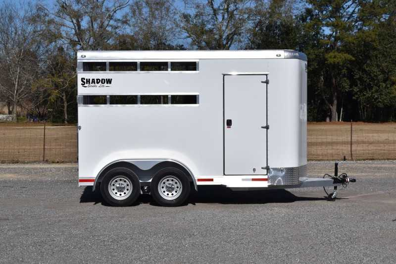 #73147 - New 2021 Shadow 2HBPSL 2 Horse Trailer  with 2' Short Wall