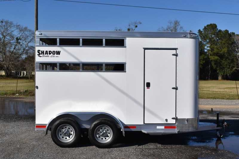 New 2021 Shadow 2HBPSL 2 Horse Trailer with 2' Short Wall