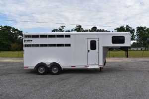 New 2021 Shadow 3HSLGN 3 Horse Trailer  with 2' Short Wall