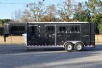 Used 2004 Sundowner 7304GN 3 Horse Trailer  with 4' Short Wall